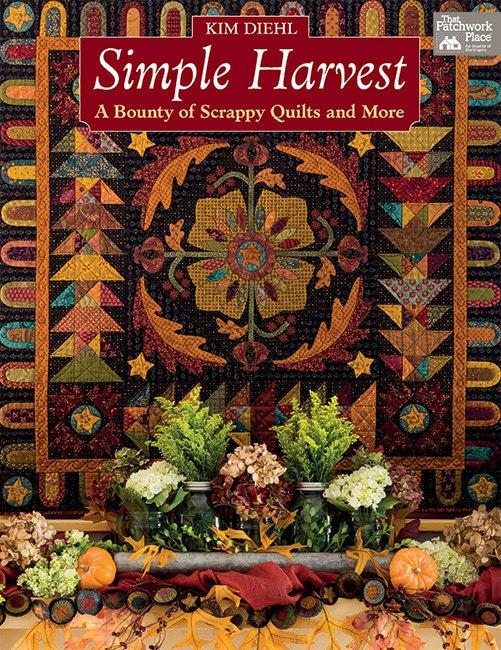 Quilt Book, Simple Harvest, Scrap Quilt, Primitive Decor