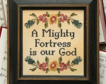 Counted Cross Stitch Pattern, Sunday Stitches, A Mighty Fortress, Inspirational, Beth Twist, Heartstring Samplery, PATTERN ONLY