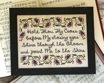 Counted Cross Stitch Pattern, Sunday Stitches, Abide With Me, Inspirational, Hymn, Beth Twist, Heartstring Samplery, PATTERN ONLY