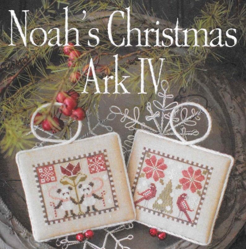 Counted Cross Stitch Pattern Noah's Christmas Ark Pandas image 0