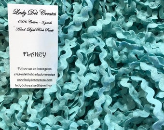 Rick Rack Trim, Flakey, Lady Dot Creates, Hand Dyed Rick Rack, Cotton Rick Rack Trim, Sewing Notion, Sewing Accessory, Sewing Trim
