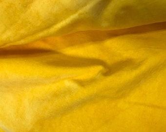 Velveteen, Daffodil, Yellow Velveteen, Hand Dyed Velveteen, Cotton Velveteen, Finishing Fabric, Velveteen Fabric, Lady Dot Creates