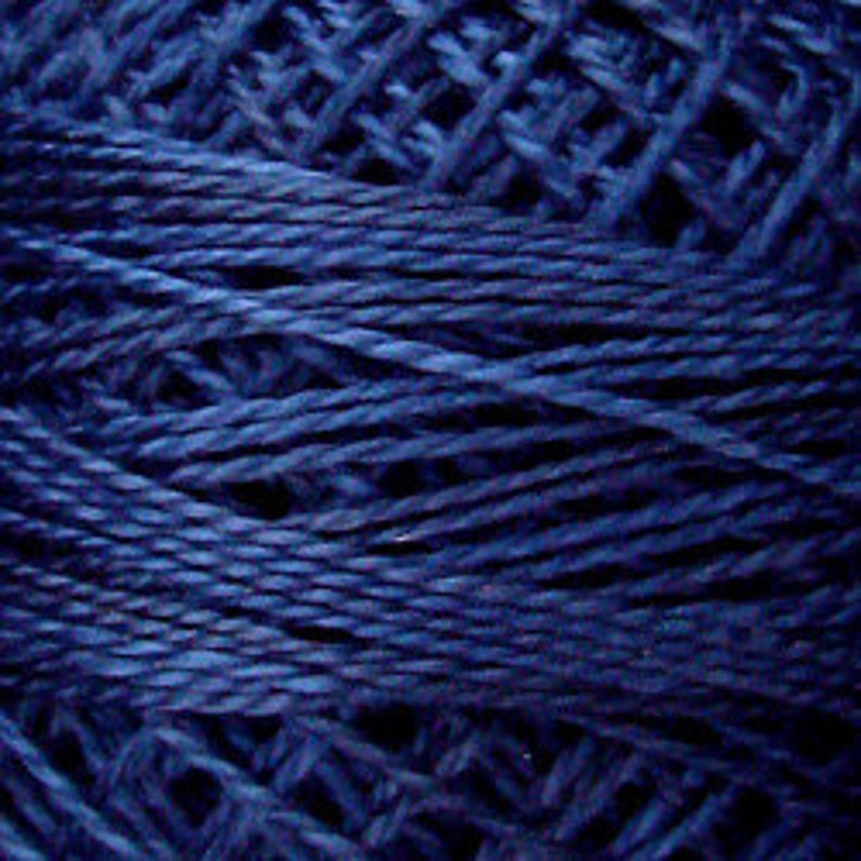Valdani Thread Midnight Blue O515 Size 12 Embroidery Thread Penny Rugs Punch Needle Embroidery Perle Cotton Sewing Accessory