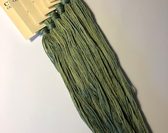 Classic Colorworks, Chopped Chives, CCT-217, 5 YARD Skein, Hand Dyed Cotton, Embroidery Floss, Counted Cross Stitch,Hand Embroidery Thread