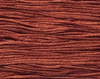 Weeks Dye Works, Baked Apple, WDW-1330, 5 YARD Skein, Hand Dyed Cotton, Embroidery Floss, Counted Cross Stitch, Embroidery, Over Dyed Cotton