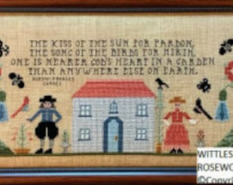 Counted Cross Stitch Pattern, Wittlesford Cottage, Cottage Decor, Inspirational Decor, Rosewood Manor, PATTERN ONLY
