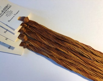 Classic Colorworks, Brown Sugar, CCT-178, 5 YARD Skein, Hand Dyed Cotton, Embroidery Floss, Counted Cross Stitch, Embroidery Thread