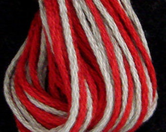 Valdani, 6 Strand Cotton Floss, O584, Smoked Reds, Embroidery Floss , Punch Needle, Embroidery, Penny Rugs, Sewing Accessory