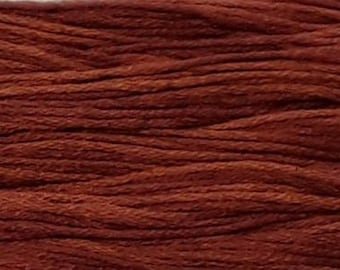 Weeks Dye Works, Terra Cotta, WDW-2239, 5 YARD Skein, Hand Dyed Cotton, Embroidery Floss, Counted Cross Stitch, Hand Embroidery, PunchNeedle