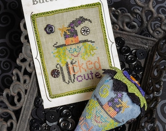 Counted Cross Stitch Pattern, Wicked Cute, Halloween Berries, Halloween, Decor, Witch, Ornaments, Erica Michaels, PATTERN ONLY