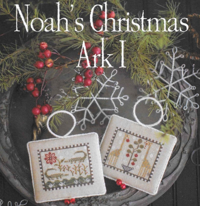 Counted Cross Stitch Pattern Noah's Christmas Ark image 0