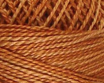 Valdani Thread, Size 8, H206, Perle Cotton, Washed Orange, Punch Needle, Embroidery, Penny Rugs, Primitive Stitching, Sewing Accessory