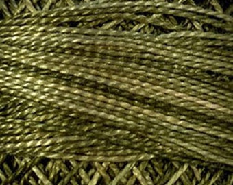 Valdani 3 Strand, O519, Green Olives, Cotton Floss, Punch Needle, Embroidery, Penny Rugs, Wool Applique, Cross Stitch, Hardanger, Tatting