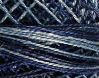 Valdani Thread, Size 8, O537, Perle Cotton, Sea Deep, Embroidery Thread, Variegated Thread, Hand Dyed Thread, Wool Applique, Punch Needle