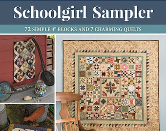 Softcover Book, Schoolgirl Sampler, Quilt Patterns, Scrap Quilts, Home Decor, Wall Hangings, Table Toppers, Little Quilts, Kathleen Tracy