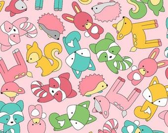 Flannel Fabric, Babe in the Woods, Baby Animals, Cotton Flannel, Quilting Flannel, Baby Flannel, Nursery, Rachel Shelburne, Maywood Studio