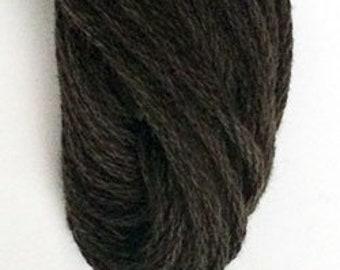 Valdani, 6 Strand Cotton Floss, 8122, Brown Black Medium, Embroidery Floss, Variegated Floss, Hand Dyed Floss, Wool Applique, Punch Needle