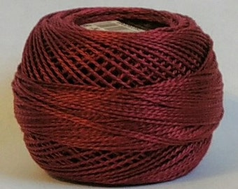 DMC Perle Cotton, Size 8, DMC 902, Very Dark Garnet, Embroidery Thread, Punch Needle, Embroidery, Penny Rugs, Sewing Accessory