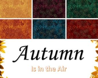 Quilt Fabric, Autumn Is in the Air, Fall Fabrics, Blender Fabrics, Tonal Fabrics, Quilters Cotton, Harvest Fabric, Hoffman Fabrics