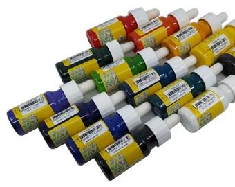 Marbling Ebru Color Art Paint 10 Bottles 30ml 1oz Supplies, Choose Your Colors