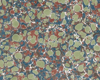 Hand Marbled Paper 48x67cm 19x26in Bookbinding Restoration
