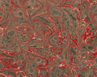 Hand Marbled Paper 48x67cm 19x26in Restoration Bookbinding