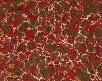 Hand Marbled Paper 48x67cm 19x26in Restoration Book Binding Series