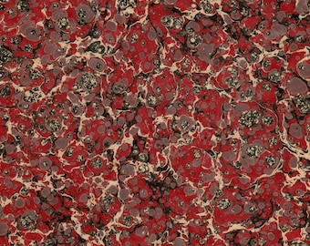 Varnished Hand Marbled Paper for Restoration and Bookbinding 48x67cm 19x26in Series d233