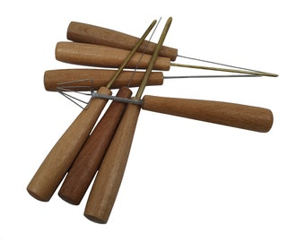 Marbling Ebru Needle Awl Tools Set of 7, Flower Tool, for Paper and Fabric Supplies