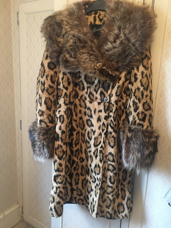 Vintage fur coat 60's/70's leopard print