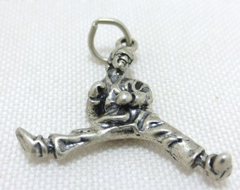 Karate Martial Arts Man Sterling Silver Charm