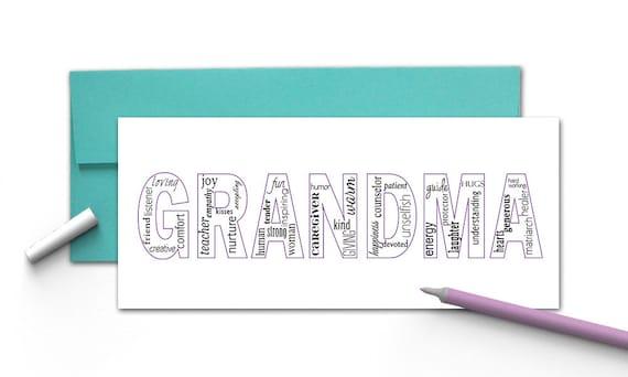 grandparents day grandma mom mother cards happy etsy