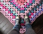 Granny Square Rag Rug