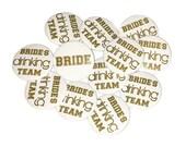 """Bachelorette Party, Gold, White, 1.5"""", 2.25"""", Pinback Button, Bachelorette Pin, Gold Bachelorette, Drinking Bride, Bridal Pin, BW057, BW139"""