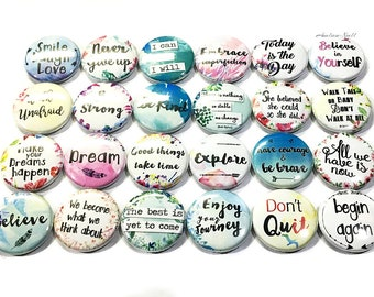Uplifting Magnet Quotes Inspirational Decor 2.25 Uplifting Theme Button Magnet Gifts Quotes Magnet Positive Quote Party Favor