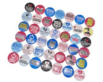 Nurse Theme 24 Buttons NU037 RN Nurses Ready to Ship 1 Pinback Button Table Scatter Nurse Party Favor Nurse Gift