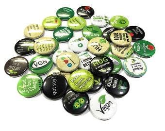 """Vegan, Vegetarian, 1"""", 2.25"""", Button, Vegan Button, Vegetarian Pin, Vegetarian Party, Vegan Party Favor, Vegan Flatback, Vegan Badge, Veg"""