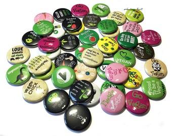 """Vegan, 1"""", Button, Vegan Button, Vegan Pin, Vegan Party, Vegan Party Favor, Vegan Flatback, Vegan Badge, Vegan Theme, Vegan Decor, Vegetable"""