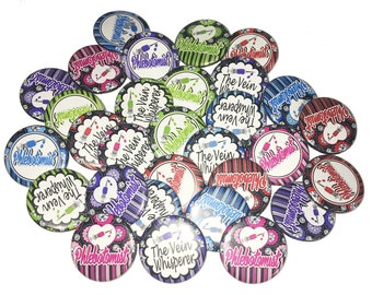 """Phlebotomist, 1"""", 1.25"""", Button, Phlebotomist Theme, Party Favor, Phlebotomy Decor, Phlebotomist Gift, Flatback, Pinback, Pin, Badge, PL001"""