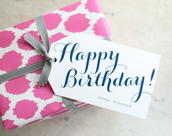 Personalized Happy Birthday Gift Tags