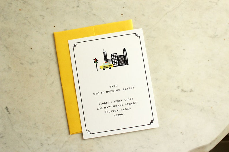 moving announcement / new address card / we've moved / nyc image 0
