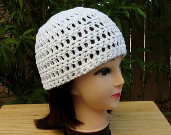 814fd41b3c3 Solid Basic Bright White Summer Beanie