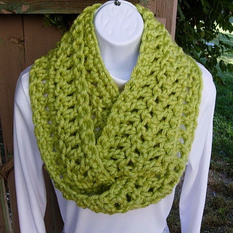 18f5c4fc2 INFINITY SCARF Loop Cowl Bright Lime Light Green Extra Soft | Etsy