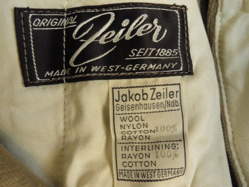 West German Corduroy Jodhpurs Vintage Riding Breeches Hunting Land Army 1940s Land Girls Khaki Tan Cotton Cords Jakob Zeiler Size 32 Waist