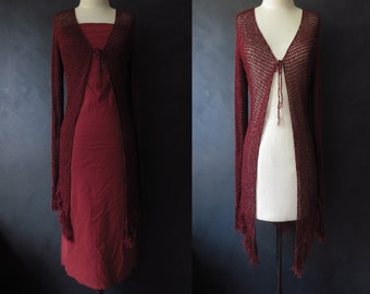 Silk Crochet Cover-Up Strapless Dress Outfit Crochet Coat Boho Stretch Pencil Dress Rust Colored Sexy Wiggle Dress