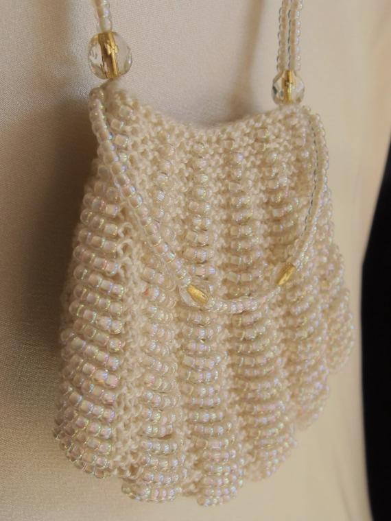 Mini Purse Pendant Wedding Necklace Ivory White &… - image 5