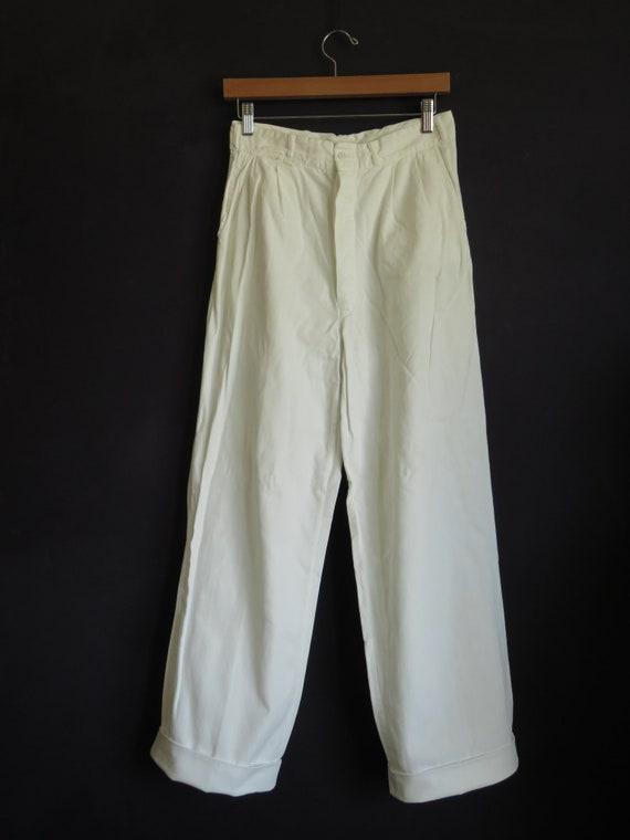 WW2 US Navy Pants 1940s White Work Pants Milkman P