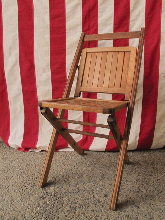 image 0 - 1800s Wooden Folding Chair Antique Deck Chair Wood Slatted Etsy