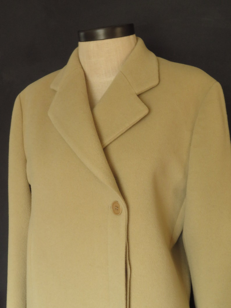 1dc6a46195 Vintage Armani Camel Overcoat 90s Emporio Armani Minimalist Virgin Wool  Long Coat Made In Italy Size Large
