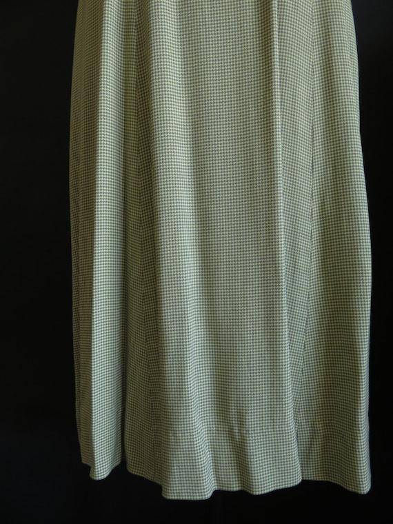 40s Gaberdine Houndstooth Dress Sleeveless Size M… - image 7